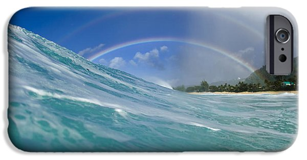 Ocean Art Photography iPhone Cases - Double Rainbow iPhone Case by Sean Davey