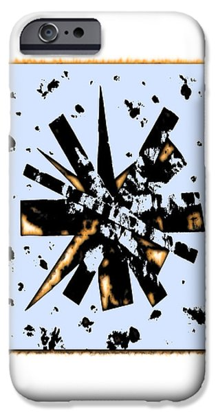 Stellar Mixed Media iPhone Cases - Double Star Collage iPhone Case by Krzysztof Spieczonek
