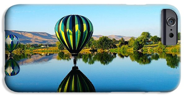 Hot Air Balloon iPhone Cases - Double Touchdown  iPhone Case by Jeff  Swan