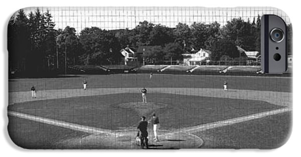 Little iPhone Cases - Doubleday Field Cooperstown Ny iPhone Case by Panoramic Images