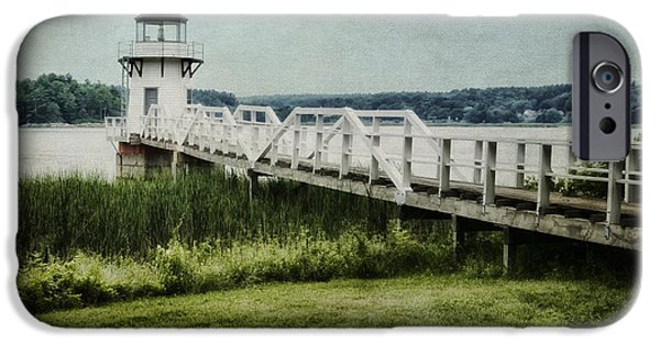 New England Lighthouse iPhone Cases - Doubling Point iPhone Case by Joan Carroll