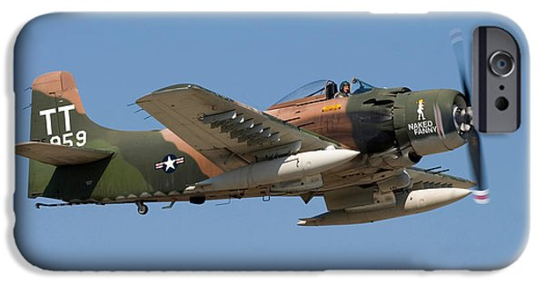 Technology iPhone Cases - Douglas AD-4 Skyraider iPhone Case by Adam Romanowicz