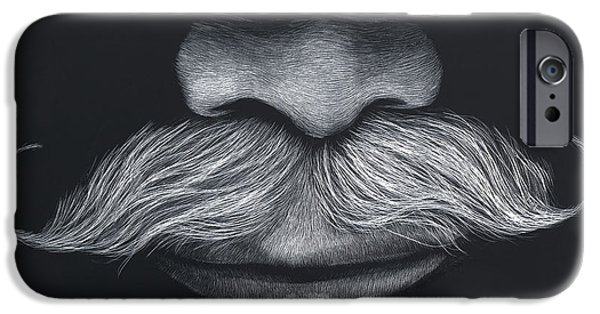 Lips iPhone Cases - Dougs stache iPhone Case by Kathleen McCarthy