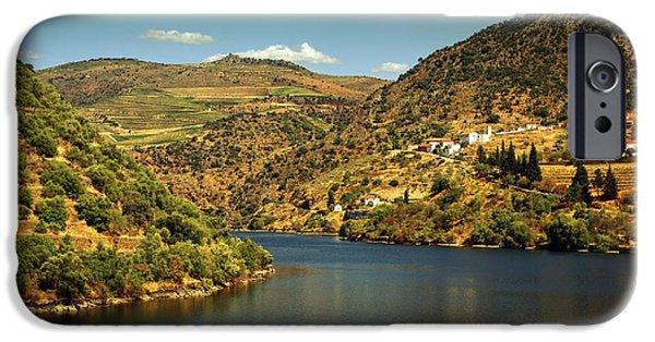 Viticulture iPhone Cases - Douro Landscape Il iPhone Case by Carlos Caetano