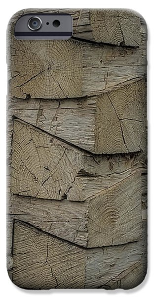 Log Cabin Art iPhone Cases - Dove tailed Log Cabin iPhone Case by Paul Freidlund