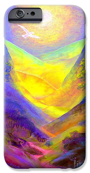 Glowing iPhone Cases - Dove Valley iPhone Case by Jane Small