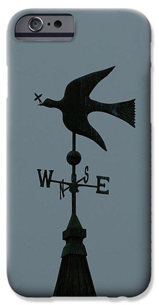 Dove Weathervane iPhone Case by Ernie Echols