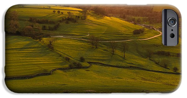 Agriculture iPhone Cases - Dovedale sunset 2 iPhone Case by Chris Fletcher