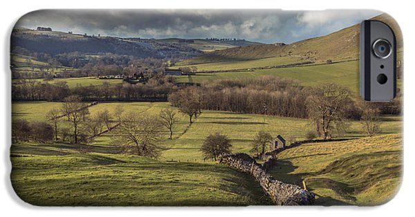 Barns iPhone Cases - Dovedale Valley iPhone Case by Chris Fletcher