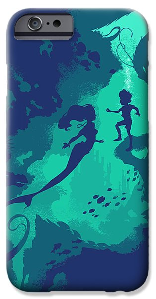 Mermaids iPhone Cases - Down Below iPhone Case by Christopher Ables