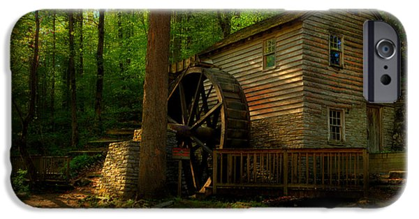 Grist Mill iPhone Cases - Down By The Mill Stream iPhone Case by Michael Eingle