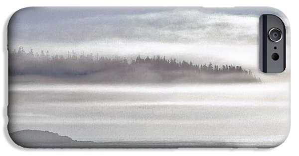 Quoddy Head State Park iPhone Cases - Down East Coastal Fog iPhone Case by Marty Saccone