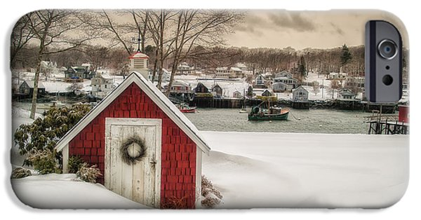 Coastal Maine iPhone Cases - Down East Seasons Greetings iPhone Case by Scott Thorp