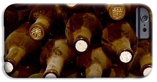 Wine Bottles iPhone Cases - Down in the Cellar iPhone Case by Jon Neidert