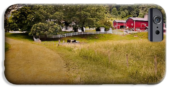 Old Country Roads Photographs iPhone Cases - Down on the farm iPhone Case by Bill  Wakeley