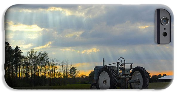 Sun Rays Digital iPhone Cases - Down on the Farm iPhone Case by Mike McGlothlen