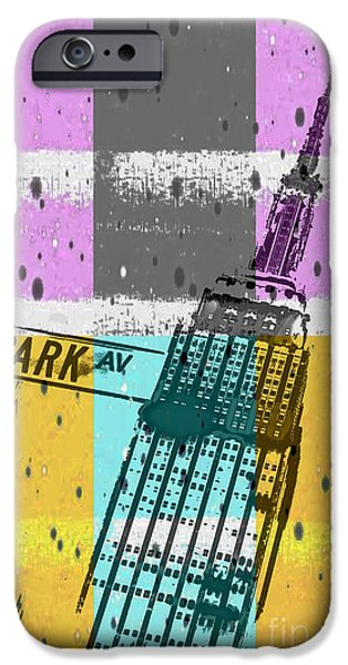 Sign iPhone Cases - Down Park Av iPhone Case by Az Jackson
