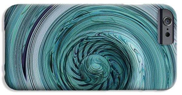 Airbrush iPhone Cases - Down The Drain iPhone Case by Jack Zulli