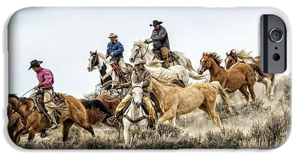 Drama iPhone Cases - Down the Hill iPhone Case by Joan Davis