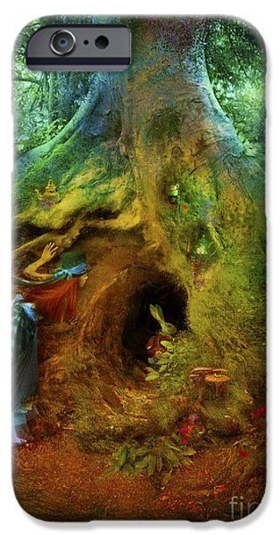 Rabbit iPhone Cases - Down the Rabbit Hole iPhone Case by Aimee Stewart