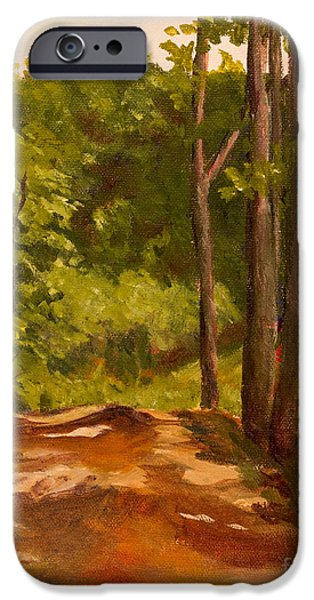 Down the Road iPhone Case by Janet Felts