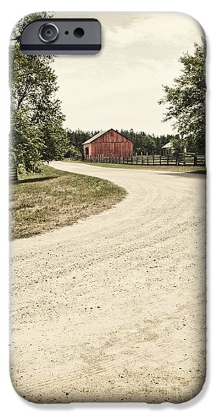 Down the Road iPhone Case by Margie Hurwich