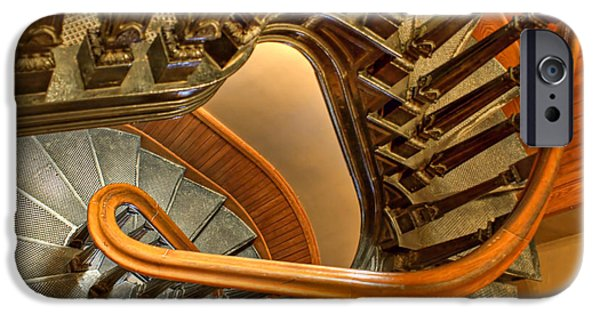 Wooden Stairs iPhone Cases - Down the Side iPhone Case by Nikolyn McDonald