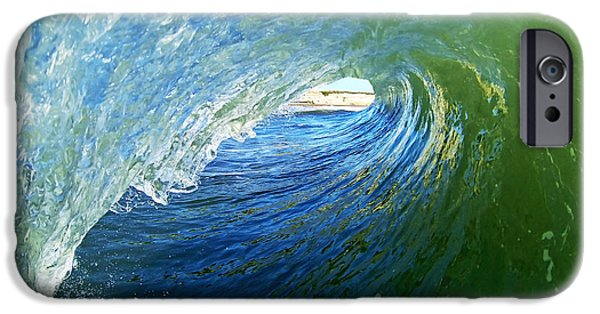 Santa Cruz Surfing iPhone Cases - Down the Tube iPhone Case by Paul Topp