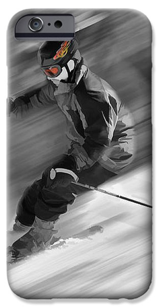 Downhill skier  iPhone Case by Dan Friend