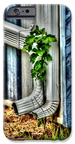 Rain Barrel iPhone Cases - DownSpout iPhone Case by Michael Braham