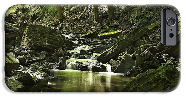 Pleasure iPhone Cases - Downstream Moss iPhone Case by Phill  Doherty