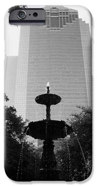 Usa Sculptures iPhone Cases - Downtain Fountain iPhone Case by Nathan Little