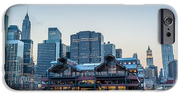 River View iPhone Cases - Downtown at Dusk iPhone Case by Ray Warren