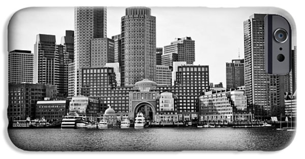 City. Boston iPhone Cases - Downtown Boston iPhone Case by Elvira Pinkhas