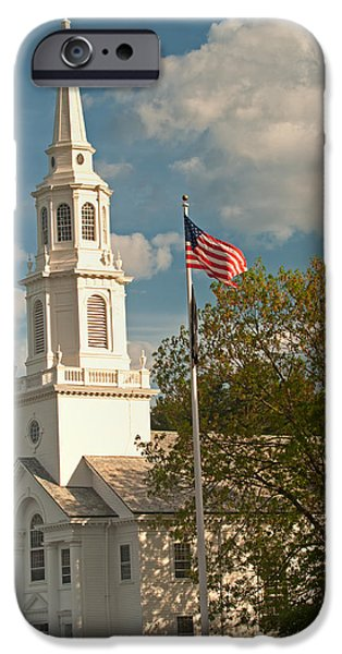 Concord Ma. iPhone Cases - Downtown Concord iPhone Case by Paul Mangold