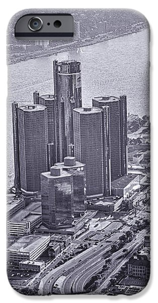 Downtown Detroit iPhone Case by Nicholas  Grunas