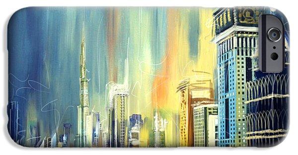 Corporate Art iPhone Cases - Downtown Dubai Skyline iPhone Case by Corporate Art Task Force