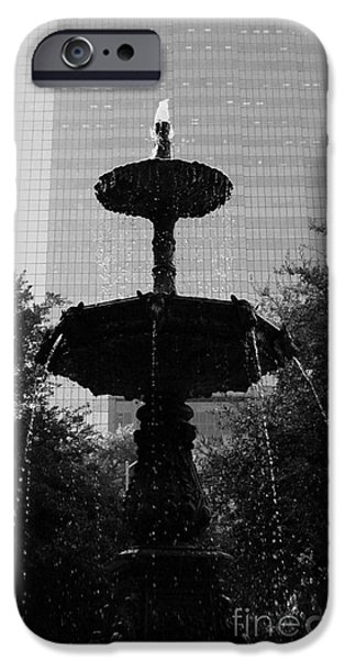 Usa Sculptures iPhone Cases - Downtown Fountain iPhone Case by Nathan Little