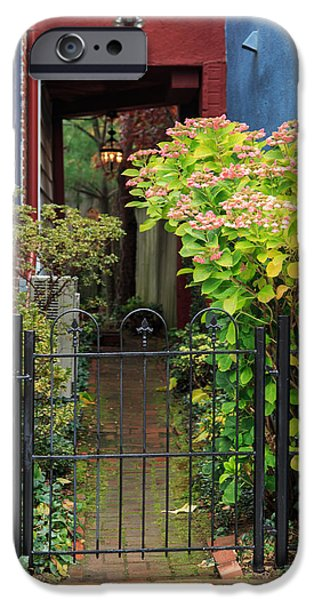 Annapolis Maryland iPhone Cases - Downtown Garden Path iPhone Case by Jennifer Casey
