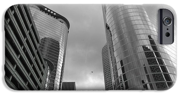 Freedom iPhone Cases - Downtown Houston iPhone Case by Dan Sproul
