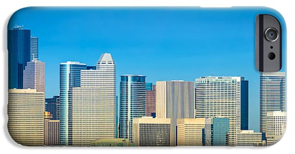 David iPhone Cases - Downtown Houston Daytime iPhone Case by David Morefield