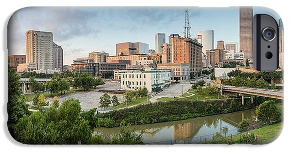 Franklin iPhone Cases - Downtown Houston from UH-D. September iPhone Case by Silvio Ligutti