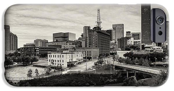 Bank Of America iPhone Cases - Downtown Houston from UH-D iPhone Case by Silvio Ligutti