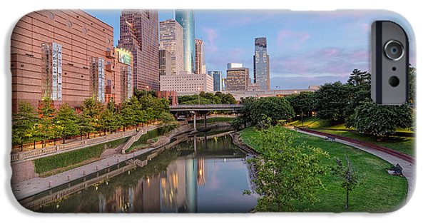 Bank Of America iPhone Cases - Downtown Houston iPhone Case by Silvio Ligutti