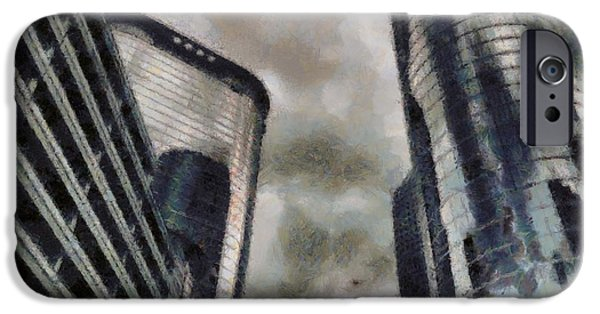 Pride Paintings iPhone Cases - Downtown Houston Texas iPhone Case by Dan Sproul