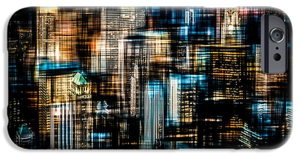 High Tower iPhone Cases - Downtown II - dark iPhone Case by Hannes Cmarits