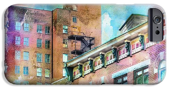 Artography iPhone Cases - Downtown Living In Color iPhone Case by Melissa Bittinger