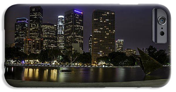 Business Digital iPhone Cases - Downtown Los Angeles  iPhone Case by Jay Robert  Luguevarra