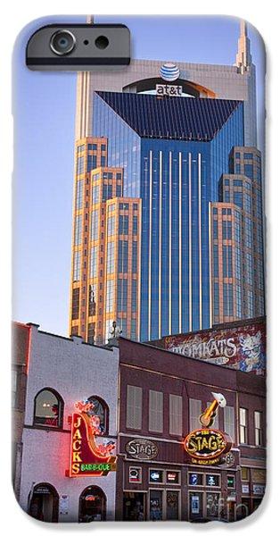 Downtown Nashville iPhone Case by Brian Jannsen