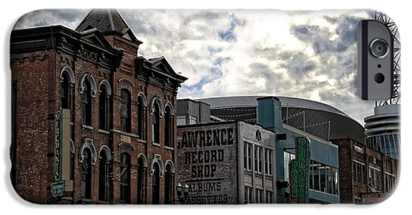 Buildings In Nashville iPhone Cases - Downtown Nashville iPhone Case by Dan Sproul